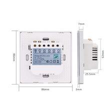 Wifi Switch Eu Standard 3 Gang 1 Way Light Switch Wall Contact Smart Switch Via Android/Ios Control Eu Plug