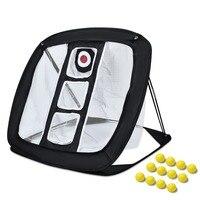 Всплывающая сеть для гольфа | для применения на приусадебном участке игра «качели» с 12 пенопластовыми шариками