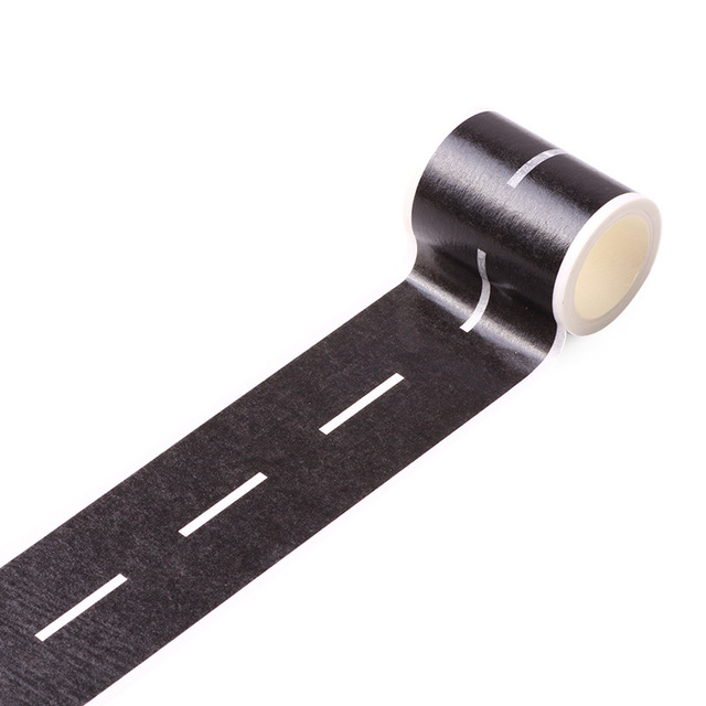 Railway Road Play traffic Washi Tape Sticker Wide Creative Roads Adhesive Masking Tape Scotch Road For Kids Toy Car Train Play 5