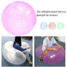 Негабаритный надувной шарик игрушка TPR прозрачный пляжный шар с пузырьками наполненный водой шар для детей Прямая поставка