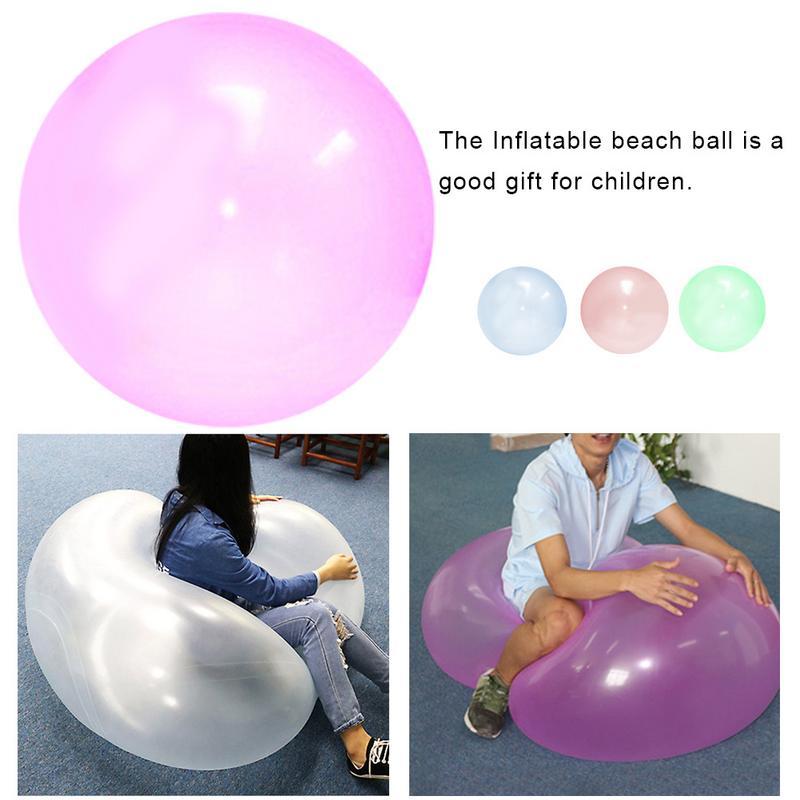 577.76руб. 8% СКИДКА|Надувной шарик игрушка большого размера из термопластичной резины, прозрачный пляжный шар с пузырьками, наполненный водяным шаром для детей, Прямая поставка|Игрушечные мячи| |  - AliExpress