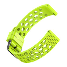 1Pcs Outdoor Sport Silicone Replacement Wrist Band Strap 22mm For Samsung Galaxy Wristband Sports Wrist Support Accessories(China)
