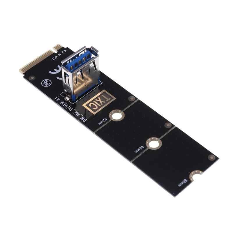 Usb 3.0 変換アダプタグラフィックカードエクステンダー M.2 NGFF Pci-E Pci Express X16 スロット転送鉱業ライザーカード