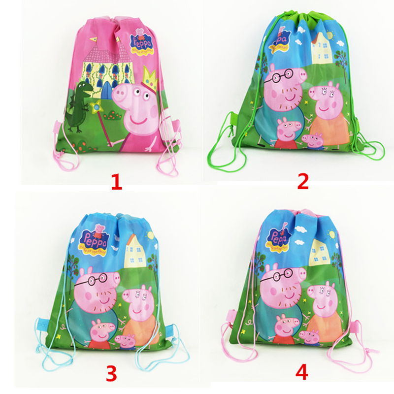 Peppa Pig Bundle Pocket Storage Bag Non-woven Fabric Shopping Bag George Family Anmie Figure Toys for Children 2P14Peppa Pig Bundle Pocket Storage Bag Non-woven Fabric Shopping Bag George Family Anmie Figure Toys for Children 2P14