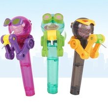 Kids Eating Robot Lollipops Stand Tool Dustproof Candy Holder Gifts Children Toy YJS Dropship