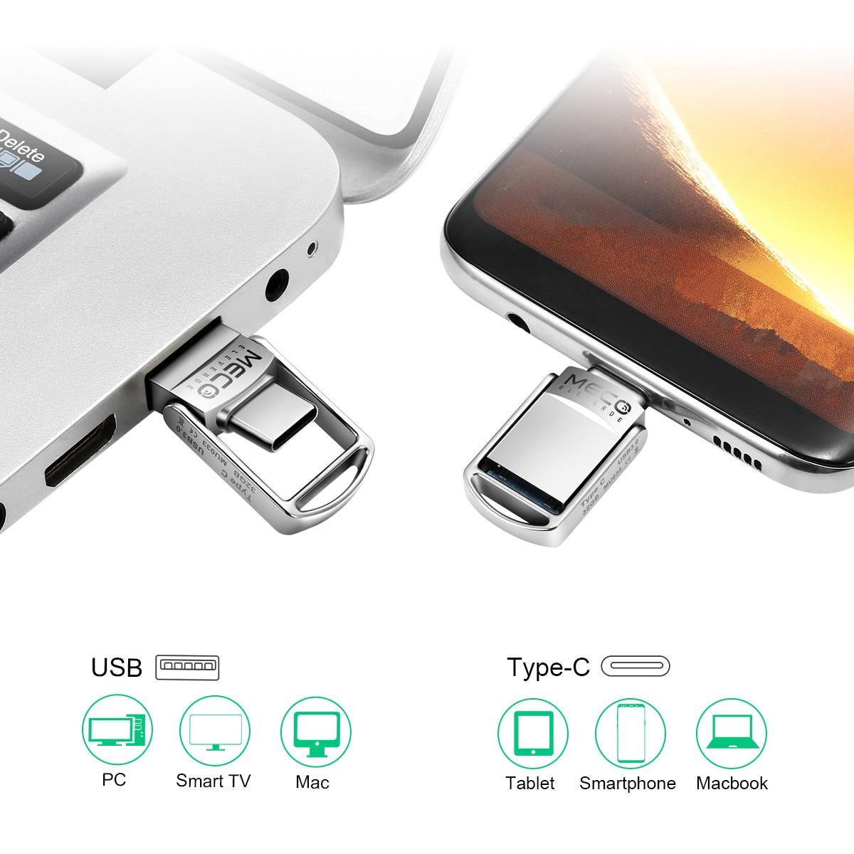 Type C USB Flash Drive otg USB 3.0 Pen Drive 32GB 64GB Pendrive USB Mini Memory Stick Disk For Huawei For Xiaomi Phone Laptops type c flash drive