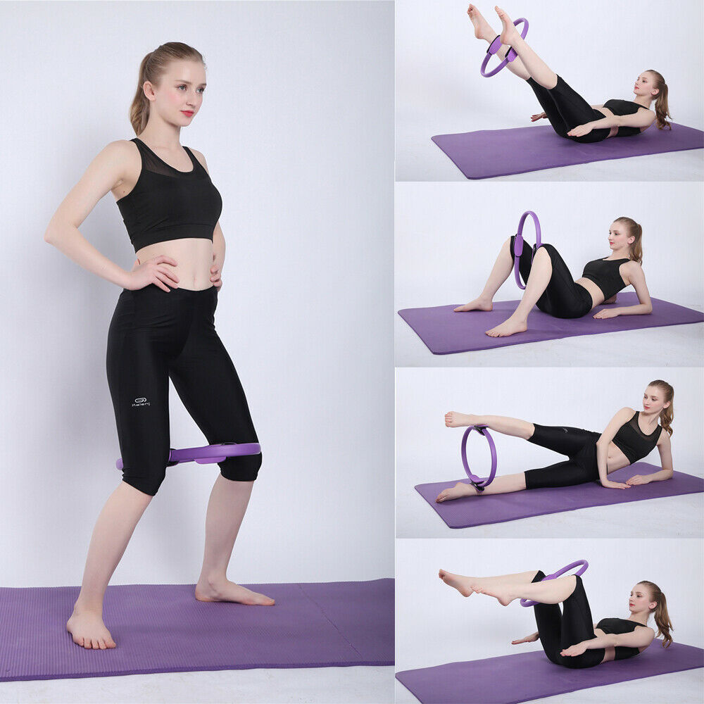 Newly Sports Entertainment Fitness Dual Grip Pilates Ring Magic Circle Body Sport Exercise Fitness Yoga Body Building Yoga Tool