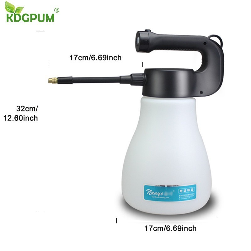 3000ML Large Capacity Hand-held Electric Spray Pot Portable Mist Nozzle Watering Can Sprayer Bottle Water Spray Gardening Tools
