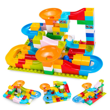 Maze ball track for marble race running LegoINGlys Duploe 51-104Pcs ABS Funnel sliding large building Brick compatible kids toys