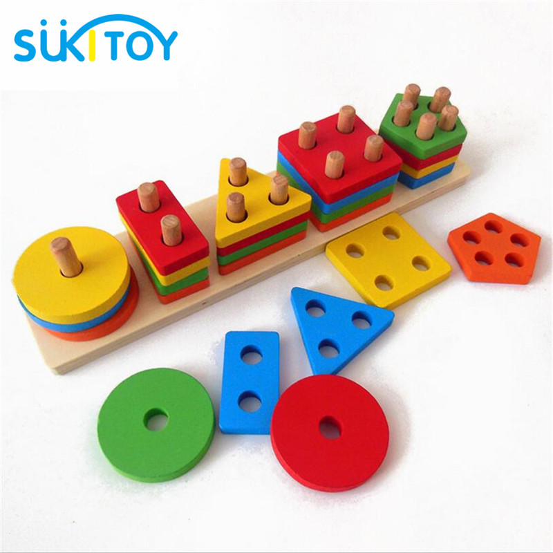 Montessori Wooden Toys Shape Matching Blocks Interactive Toys For Children Preschool Toy Brinquedo Juguetes Oyuncak Brinquedos57 in Color Shape from Toys Hobbies