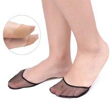 1/2 пар, высокий каблук, подушка, противоскользящая, силиконовая, в горошек, невидимая стелька для переднего отдела стопы, передние пяточные носки