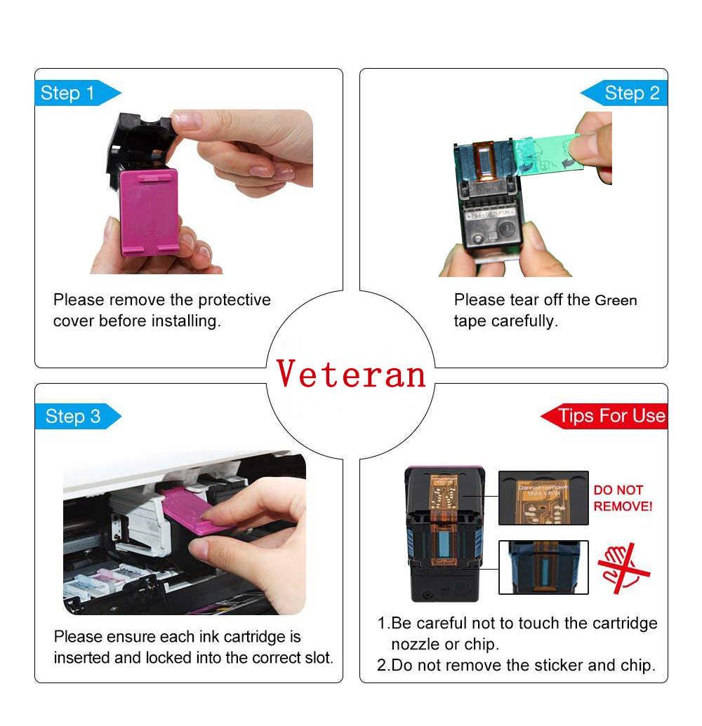 Veteran Kembali Diproduksi 121XL Cartridge Pengganti HP 121 HP 121 XL Ink Cartridge untuk DeskJet D2563 F4283 F2423 F2483 f2493