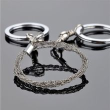 Field Survival Stainless Wire Saw Hand Chain Steel Bamboo Line Lifebelts Rotating Drop Shipping #1025