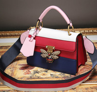 Из натуральной кожи Для женщин сумка модный пэчворк плед Для женщин Креста тела сумки красочная Сумочка Дамская сумка Bolsa Femini