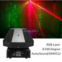 9 Объектив RGB цвет движущаяся головка лазерный свет DMX/Авто/звуковой луч эффект сценические огни Хорошо для DJ вечерние диско домашний клуб шо