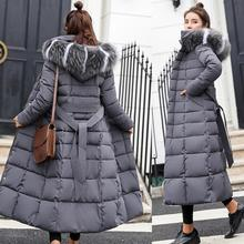 Winter Women Down Jacket Long Hooded 2018 Fashion Snow Clothing Warm Cotton-padd