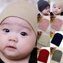 New Toddler Kids Girl Boy Baby Infant Autumn Winter Warm Cute Cotton Hat Beanie Fashion Cap Soft Knitting Cute Hot Hats(China)
