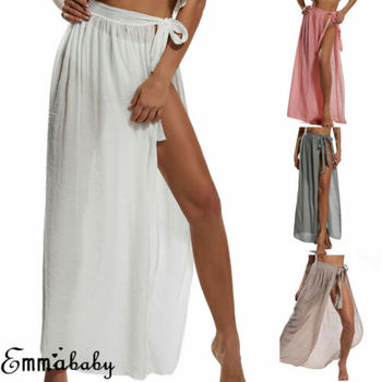 AU Womens Swimwear Bikini Beach Wear Cover Up Swimsuit Wrap Skirt Sarong Skirts 2