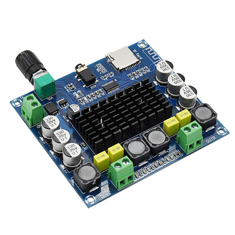 Hot AMS-Tda7498 Bluetooth Amplifier Audio Board 2X50W Stereo Digital Power Amplifiers Amp Module Support Tf Card Aux Home Thea