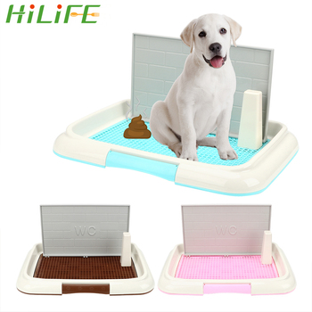 HILIFE Pet Toilet Pet Product Bedpan Easy to Clean Puppy Litter Tray Lattice Dog Toilet Potty Pee Training Toilet