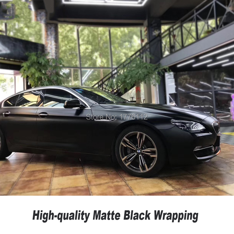 High end super matte black wrapping Film vinyl car wrap matte black vinyl solvent based low