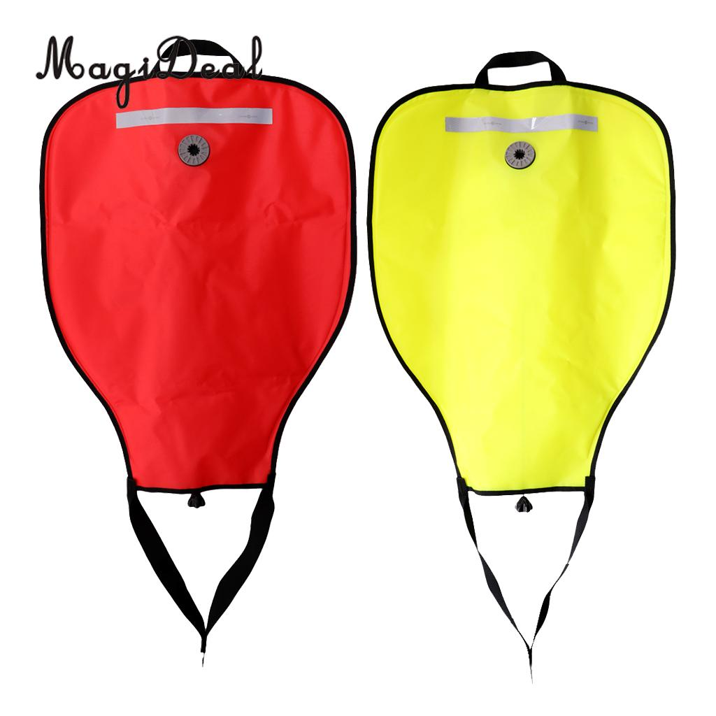 Pack 2 Reflective 50lbs Salvage Lift Bag Over Pressure Valve for Scuba Dive Underwater Recovery