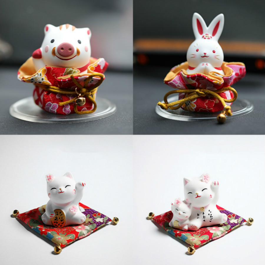 3d Rabbit Pig And Cat Ceramic Gypsum Silicone Mold Fortune Plaster Mould For Car Decoration Silicone Candle Epoxy Resin Molds
