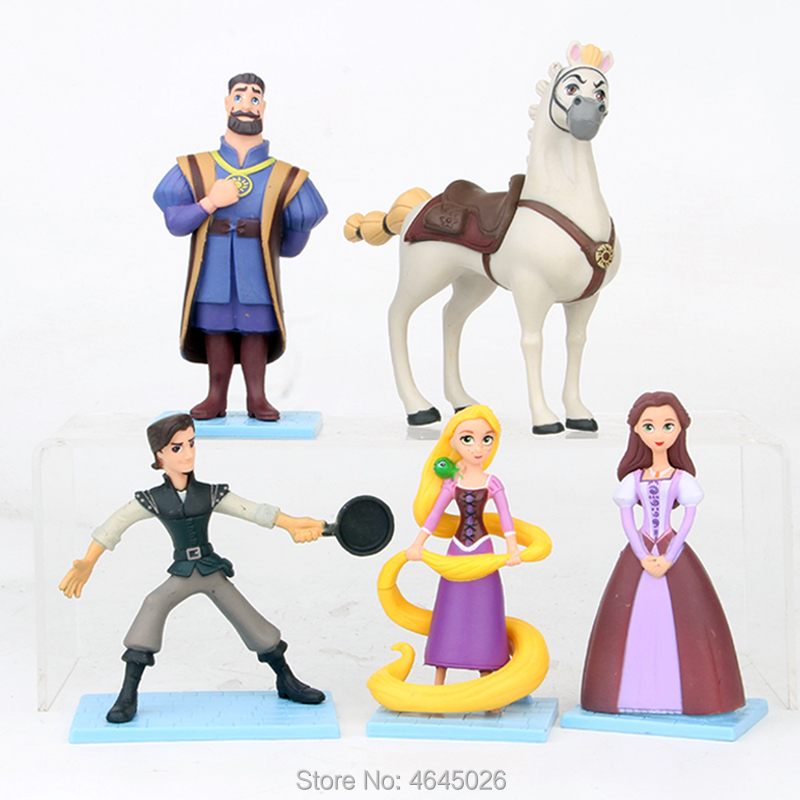 Kids Toys Dolls Action-Figures Maximus Tangled Princess Children PVC for Gift Ryder Flynn