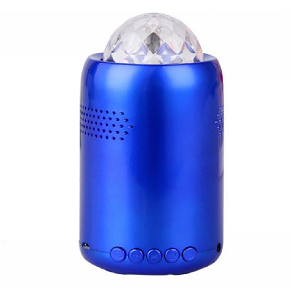 Portable Rotating LED Light Bluetooth Mini Music Player Light Bass Multi colored Light Speaker Wireless