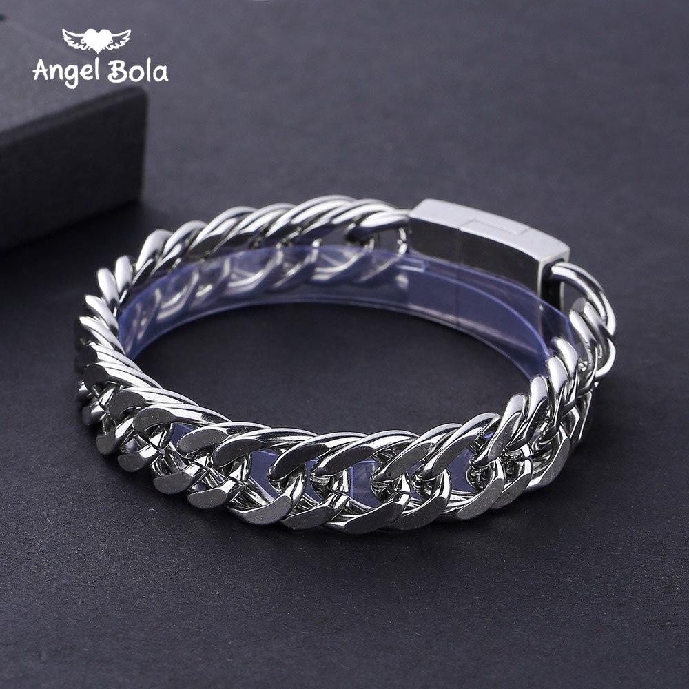 12mm pesado masculino buda pulseira curb cubana link prata cor 316l aço inoxidável pulseira masculino jóias frete grátis