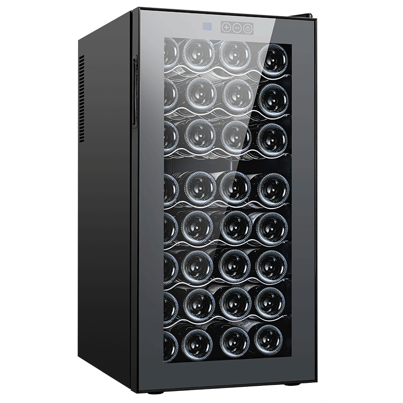 Wine refrigerator electronic thermostatic semiconductor red wine cabinet red wine cabinet 32 steel layer rack