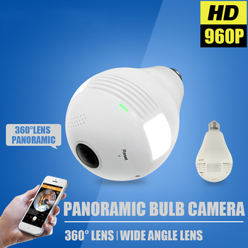 LED Light 960P Wireless IP Camera Panoramic Home Security WiFi CCTV Fisheye Bulb Lamp 360 Degree Home Security Burglar