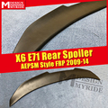 E71 FRP спойлер AEPSM стиль праймер черный задний крылышки для BMW X6 E71 AEPSM стиль спойлер крыло спойлер задний багажник 2009-2014
