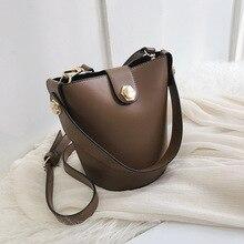 купить Female Small Bucket Tote Crossbody Bags For Women 2019 High Quality PU Leather Luxury Handbag Designer Ladies Hand Shoulder Bag дешево