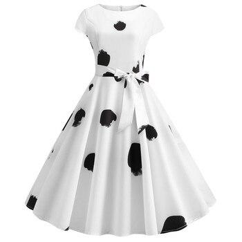 Lunares Verano De Vestidos Blanco Mujer Grande Talla AL354cRjSq