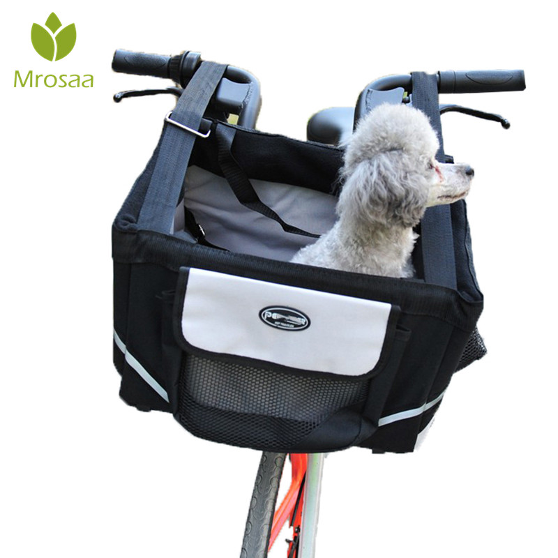 Best Pet Puppy Carrier Bicycle Basket Storage Puppy Ride Bike Canopy Dog Cat Safety Pet carriers