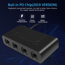 Sıcak taşınabilir USB adaptörü dönüştürücü 4 port Wii U PC anahtarı dönüştürücü PC için oyun aksesuarı için GameCube denetleyici