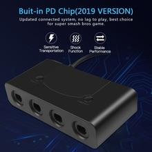 แบบพกพา USB แปลงอะแดปเตอร์ 4 พอร์ตสำหรับ Wii U PC SWITCH Converter สำหรับ PC อุปกรณ์เสริมสำหรับ GameCube ตัวควบคุม