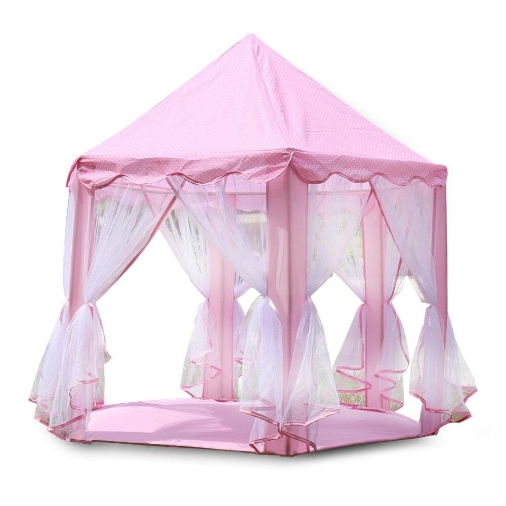 Portable tente de jeu pour enfants piscine à balles princesse fille princesse château maison enfants balles maison Playhouse Playtent bébé jouets de plage