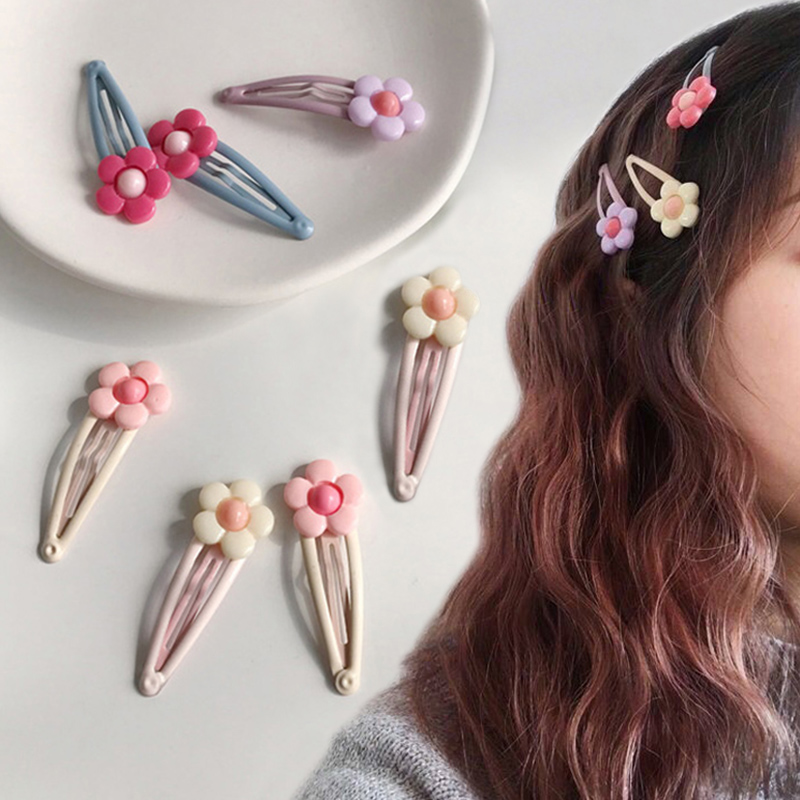 Apparel Accessories Active Hair Clips Cute Lovely Hairpins Fashion Korean Style Girls 2pcs/set Women Headwear Sweet Bb Flower Candy Color Hair Accessories Good Heat Preservation