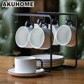 Набор кофейных чашек, простой европейский стиль, подстаканники, высокое качество, послеобеденный чай, костяный Китай