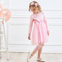 Girls Dresses Girls Unicorn Dress Girls Long Sleeve Spring Autumn Winter Dress Princess Dresses for Girls Kids Party Clothes(China)