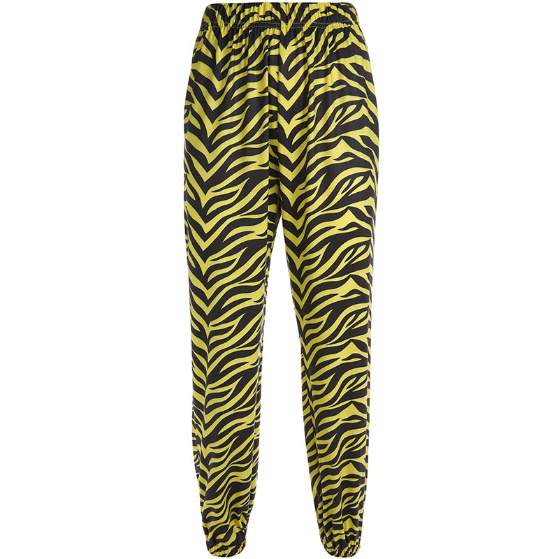 642310ca9b22 BOOFEENAA Yellow Zebra Animal Print Joggers Harem Pants Women Trouser  Streetwear High Waisted Hip Hop Sweatpants 2019 C67 AF77-in Pants & Capris  from ...
