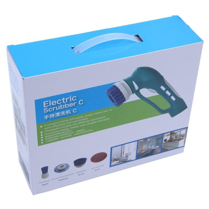 Портативный ручной бытовой скраб набор кистей Электрический Мощный скруббер щетка для кухни ванной комнаты