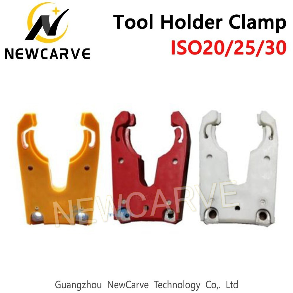 Купить с кэшбэком ISO30 Tool Holder Clamp Flame Proof Rubber Tool Holder Claw Forks For CNC Router NEWCARVE