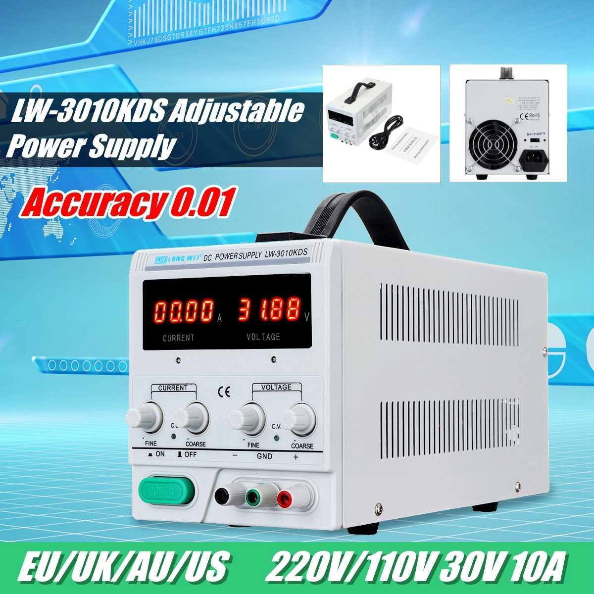 30 V 10A 110 V/220 V LED affichage régulateur de commutation réglable DC alimentation ordinateur portable réparation réparation précision 0.01 réglage fin