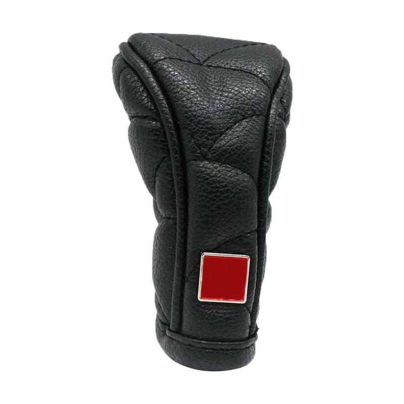 Gear Shift Knob Hand Brake Cover Universal Auto Accessories PU Leather For Car Decoration Car Styling Gear Shift Cover