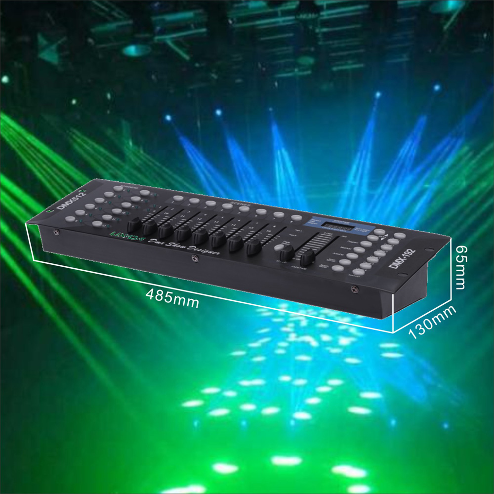 Disco Light Controller 192 Channels DMX512 Controller Console for Stage Light Party DJ Disco Operator Equipment