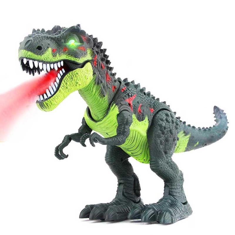 Electric Light Dinosaur Tyrannosaurus Toy fr Children Up Walking T-rex Model Toy
