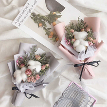 20pcs Cotton artificial flower Valentine's Decoration for Home party dried flower supplies decor DIY garland wall wreath flores